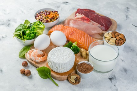 Selection on vegetarian and animal origin protein sources