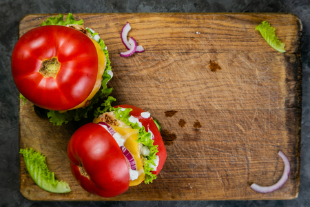 Low carb burger option - tomato burger