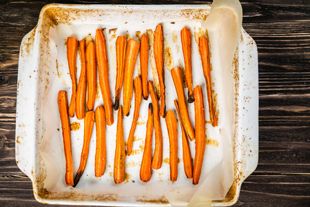 Healthy fries alternative - carrot fries, chips Фото со стока