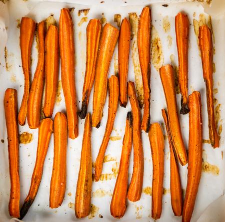Healthy fries alternative - carrot fries, chips 免版税图像