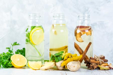 Winter detox drinks - drinking vinegars