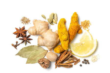 Selection of traditional indian spices
