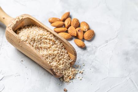Gluten free concept - almond flour, copy space Stock Photo