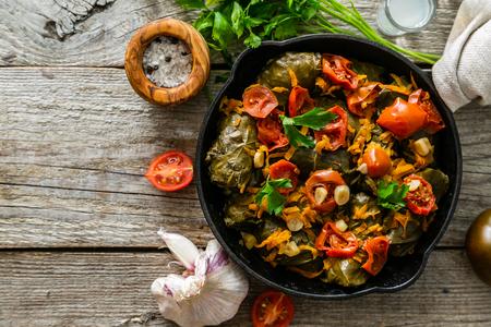 Traditional green, turkish and georgian food dolma