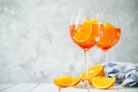 Aperitif drinks  on wood background