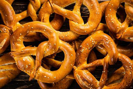 October fest concept - traditional food pretzels