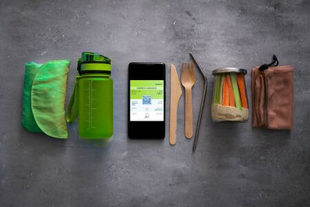 Zero waste travel concept - essentials for minimal negative impact while traveling