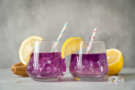 Galaxy color changing butterfly pea lemonade