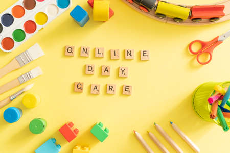 Day care concept - toy and art supply Banco de Imagens