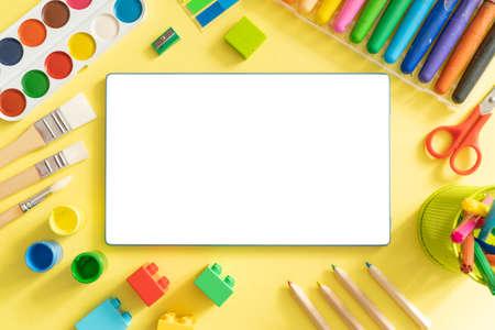 Kids online drawing class concept