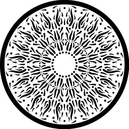 Conjunto De Seis Elementos De Diseño Espirógrafo Aislados Sobre ...