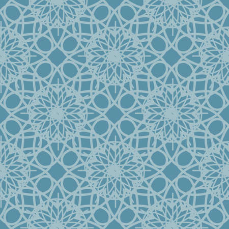reminiscent: Cold blue seamless pattern reminiscent of frozen glass. Abstract ornament geometric background. Vector web design pattern