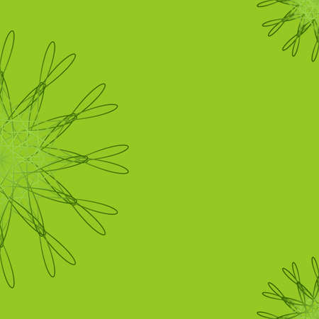 Green abstract geometric floral background for invitations, greeting cards, postcards, brochures with place for text. Made using clipping mask. Vector