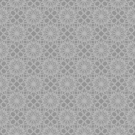 Gray seamless background. Abstract ornamental repeating pattern. Vector Illustration