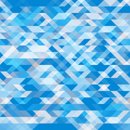 Abstract geometric seamless background. Geometric shapes in different shades of blue. Futuristic polygon pattern. For use as webpage background, banner, poster. Vector. Made using clipping mask
