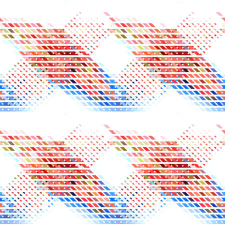 intertwined: Colorful abstract seamless background. Repeating geometric pattern. Vector