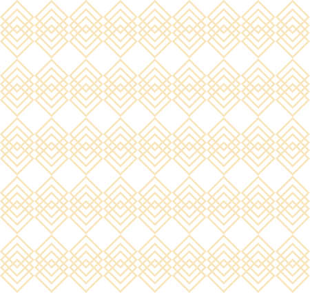 Seamless pattern of golden squares on white background. Elegant geometric pattern. Repeating vector background for web design