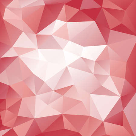 Pink and red polygonal pattern. Triangular geometric background. Abstract vector pattern with triangle shapes. For banner, poster, card, web design. Made using clipping mask