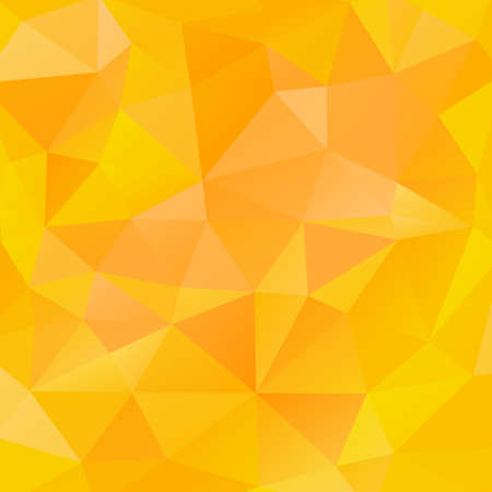 Bright orange abstract mosaic background. Triangular geometric pattern low poly style. Abstract vector background with triangle shapes. Made using clipping mask