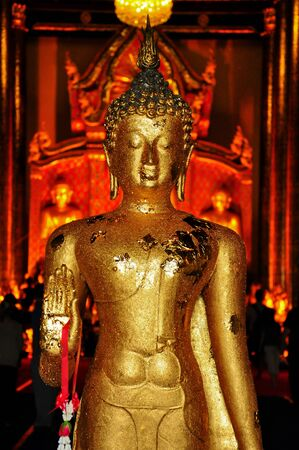 Buddha golden in temple of Thailand  photo