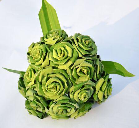 pandanus: Rose folded pandanus leaves