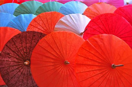 Paper umbrella of the Chiang Mai in Thailand