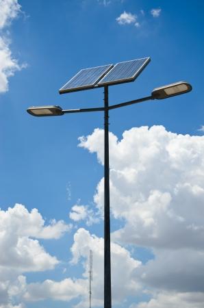 powered: solar powered street light Stock Photo