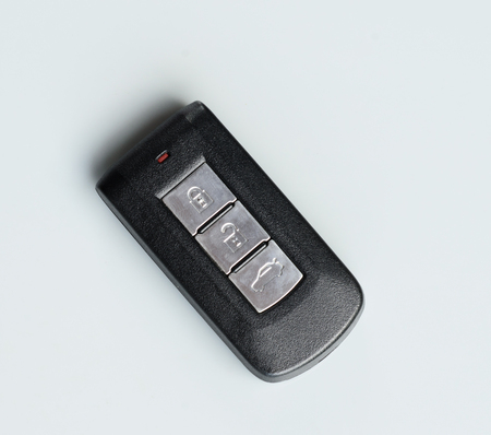 Car Remote key on gray background photo