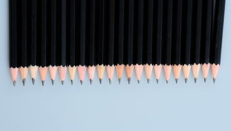 Close-up of black pencils photo