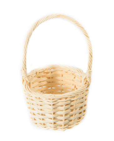 Wattled basket  on a white background photo
