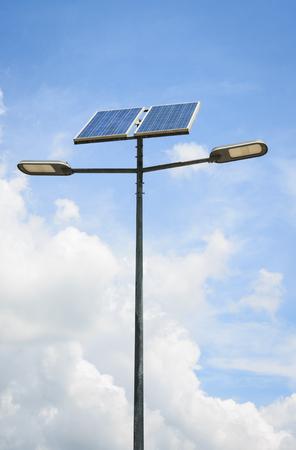 solar powered street light photo