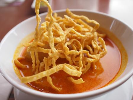soi: Noodle Khao soi , Thai food Stock Photo