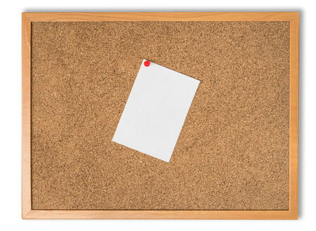 note paper: Cork board and note paper