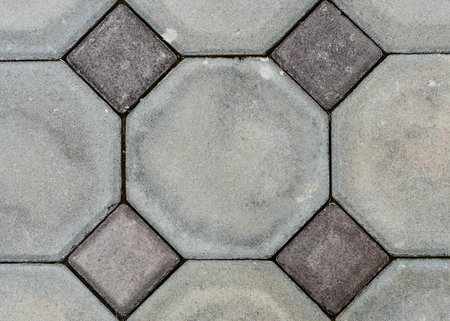 octagon: Old octagon Paving Slabs. Seamless Tileable Texture.