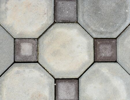 Old octagon Paving Slabs. Seamless Tileable Texture. photo