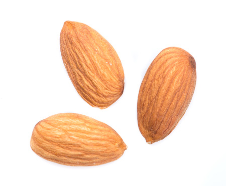 almond: almonds isolated on the white background Stock Photo