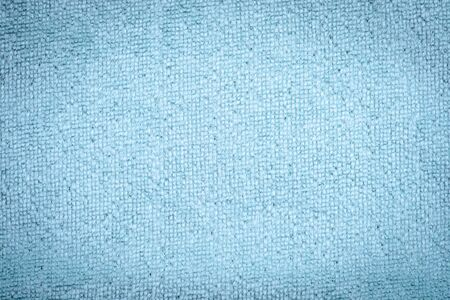 turkish bath: Blue natural plush terry cloth turkish bath  beach towel, textured fabric macro background closeup texture Stock Photo