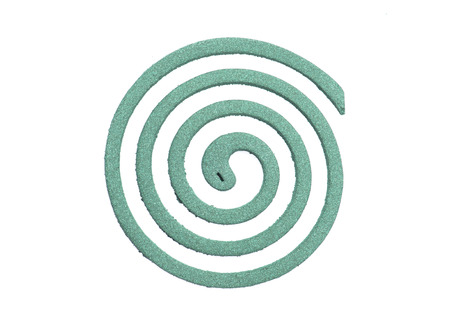 Mosquito coil isolated on white background photo