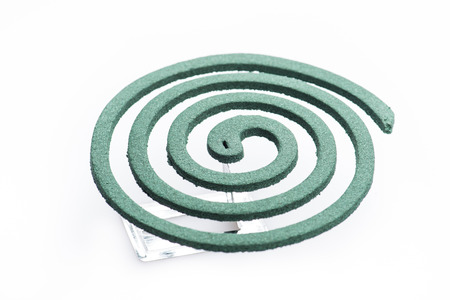 coil: Mosquito coil isolated on white background Stock Photo