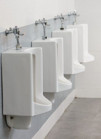 latrine: raw of Urinals