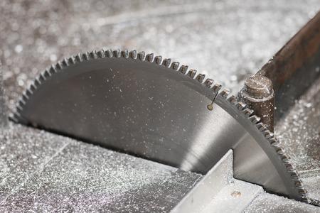 cutoff blade: Circular saw blade for aluminum Stock Photo