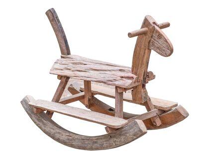 rocking: rocking horse isolate on white