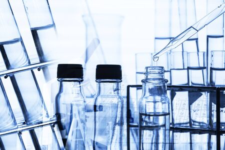 sciences: scientist with equipment and science experiments Stock Photo