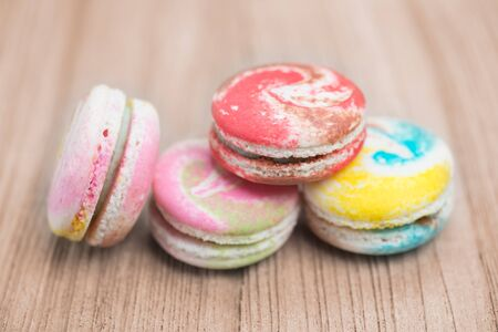 filtered: colorful macarons with vintage pastel filtered