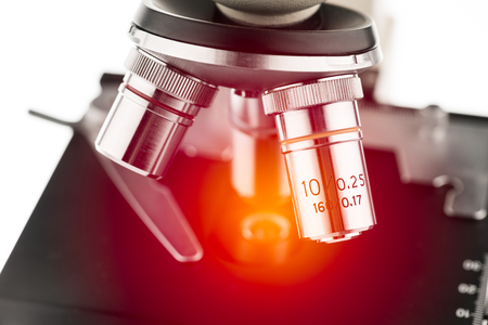 microscope lens: microscope with lighting effect
