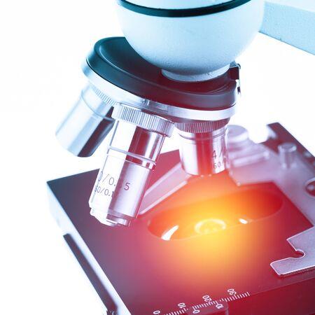 lighting effect: microscope with lighting effect