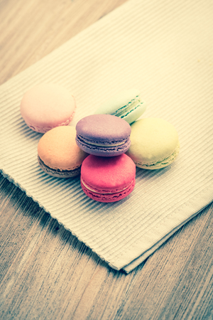 filtered: colorful macarons on Napery: vintage filtered style
