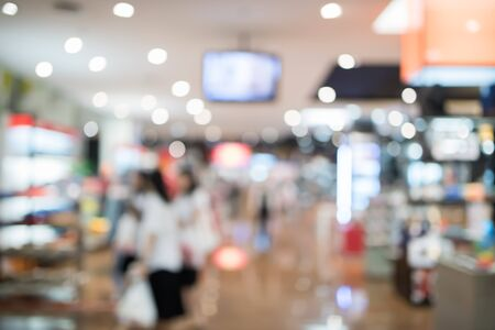 abstract blurred in the shopping mall background with bokeh