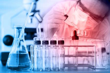 biotecnologia: Equipamiento científico Foto de archivo