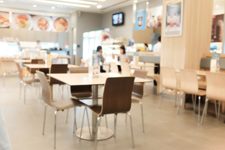 abstract blurred background people in food and coffee shop